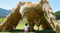 Ảnh: Nông dân Nhật Bản tạo ra các công trình nghệ thuật từ rơm rạ