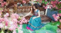 Ngất ngây với ngôi nhà đẹp lộng lẫy, thơm ngát hoa sen của bà mẹ Hà thành