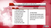 9 cầu thủ của V.Ninh Bình bị cấm thi đấu vĩnh viễn