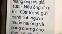 Thông tin mới nhất vụ cán bộ Đoàn ĐBQH Hà Nội bị đe dọa, tống tiền