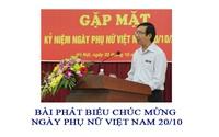 Bài phát biểu chúc mừng ngày 20/10 của lãnh đạo hay, ngắn gọn