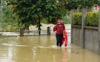 Hà Nội: Nước sông Bùi dâng cao, nhiều nhà dân ở Chương Mỹ bị ngập