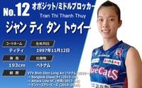 Chủ công Trần Thị Thanh Thúy 1m93 và 4 lần xuất ngoại