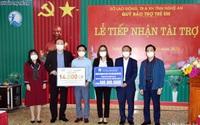 TH chia sẻ với hàng ngàn trẻ em và gia đình khó khăn từ vùng dịch phía Nam trở về Nghệ An