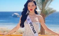 Ái Nhi tự tin khoe vóc dáng cuốn hút tại Hoa hậu Liên lục địa 2021