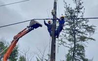 Cấp điện trở lại cho 100% khách hàng sử dụng điện ở 4 tỉnh, thành phố miền Trung – Tây Nguyên