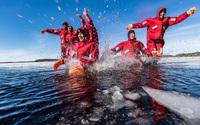 Lạnh tê người với tour trải nghiệm bơi cùng tảng băng giữa đại dương