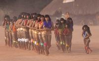 Hình ảnh đám tang tù trưởng của bộ tộc kỳ lạ ở Amazon