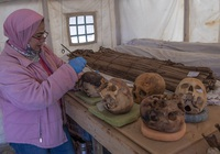 Cận cảnh xác ướp hơn 3.000 năm tuổi ở Ai Cập