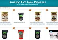 Hạt điều Lafooco là sản phẩm mới bán chạy nhất trên Amazon
