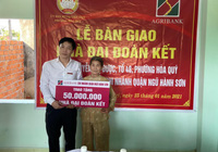 Đà Nẵng: Agribank Ngũ Hành Sơn tài trợ xây dựng nhà đại đoàn kết cho người nghèo