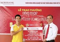 """Khách hàng Phú Quốc trúng giải nhất chương trình khuyến mãi """"Kích hoạt Agribank E-Mobile Banking – Lộc vàng trao tay"""""""