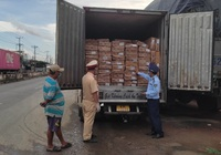 5 tấn cá nục Trung Quốc không có nhãn phụ được vận chuyển về Tiền Giang tiêu thụ
