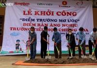 Thêm một điểm trường mơ ước được Báo NTNN và Quỹ Thiện Tâm xây dựng ở vùng quê nghèo Sơn La