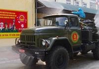 Lực lượng phòng hóa phun khử khuẩn Bệnh viện Quân y 105