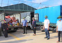 """Hơn 11 tấn nhu yếu phẩm nông dân (Hà Tĩnh) """"tiếp sức"""" khu cách ly"""