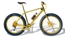 Chiếc xe đạp triệu đô dành cho phái đẹp, mạ vàng bóng loáng, đính kim cương lấp lánh