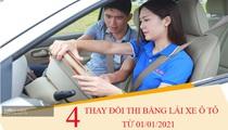 4 thay đổi về thi bằng lái xe ô tô áp dụng từ 1/1/2021