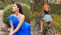 """Tăng Thanh Hà hiếm hoi mặc quần """"siêu ngắn"""", Hoàng Thùy diện váy đẹp tựa nữ thần"""