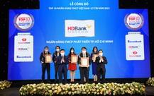 Kinh doanh hiệu quả, HDBank khẳng định đứng trong top 5 ngân hàng uy tín nhất Việt Nam