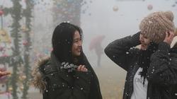 Nghỉ Tết dương lịch, check-in đỉnh Fansipan mùa tuyết rơi