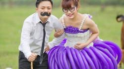 """Chàng """"phù thủy"""" trắng đêm dệt váy cưới cho vợ"""