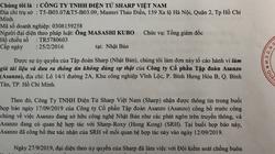Sharp Việt Nam tiếp tục tố cáo Asanzo của ông Phạm Văn Tam giả mạo tài liệu
