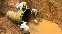 Đường ống nước sạch sông Đà lại gặp sự cố, hàng vạn hộ dân mất nước