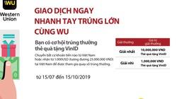 """Cùng Agribank """"giao dịch ngay - nhanh tay trúng lớn cùng WU"""""""