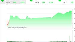 Chứng khoán ngày 22/1: VnIndex vượt mốc 990 điểm