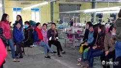 """Hà Tĩnh: Công ty may nợ lương, hàng trăm công nhân có nguy cơ """"mất Tết"""""""