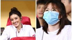 Á hậu Huyền My, bạn gái Quang Hải xinh đẹp hút mắt trên khán đài cổ vũ CLB Hà Nội