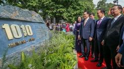 Bí thư, Chủ tịch Hà Nội gắn biển công trình cải tạo bờ hồ Hoàn Kiếm