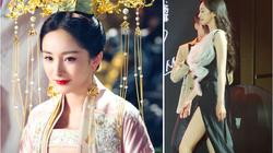 """""""Nữ hoàng cổ trang Trung Quốc"""" lại gây mê người nhìn nhờ kiểu váy xẻ cao """"bất tận"""" ngoài đời"""