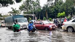 Cà Mau: Mưa lớn kéo dài, đường thành phố ngập sâu, học sinh một huyện phải nghỉ học