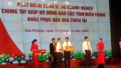Hải Phòng: Vận động ủng hộ đồng bào miền Trung 120 tỷ đồng