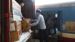Vận chuyển đường sắt miễn phí hàng cứu trợ cho các tỉnh miền Trung