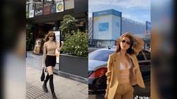 Tiktok trend: Ngọc Trinh và bạn gái Sơn Tùng M-TP thả dáng trên những con phố