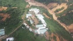 Phước Sơn nhìn từ trực thăng Mi17 sau 5 ngày bị cô lập vì sạt lở núi làm 5 người chết, 8 người mất tích