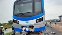 Tuyến metro số 1: Một gối cao su sử dụng cho dầm cầu cạn rơi khỏi đá kê gối
