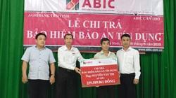 Trà Vinh:Agribank huyện Trà Cú chi trả quyền lợi Bảo hiểm Bảo an tín dụng cho khách hàng