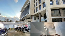 Quảng Ngãi: Công trình UBND huyện 80 tỷ chưa bàn giao đã thấm dột nặng