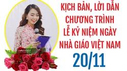 Kịch bản lễ kỷ niệm ngày Nhà giáo Việt Nam 20/11/2020