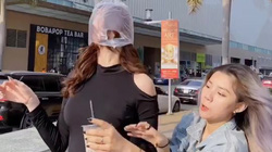 Tiktok trend: Ngọc Trinh đang đi thì bị cướp và cái kết bất ngờ