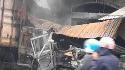 3 căn nhà cháy, 1 người tử vong sau vụ va chạm giữa 2 xe đầu kéo