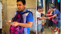 """""""MC giàu nhất Việt Nam"""" gây """"sốt"""" mạng vì mang đôi dép """"có 1-0-2"""" đi cứu trợ dân vùng lũ"""