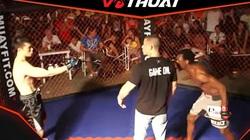 """Clip: """"Làm màu"""", cao thủ Vịnh Xuân bị võ sĩ MMA 1 đòn đánh gục"""