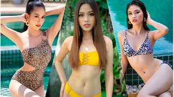 """Nhan sắc Đỗ Thị Hà mặc bikini quyến rũ với chân dài 1,11m """"đọ"""" dáng với Á hậu Phương Anh, Ngọc Thảo"""