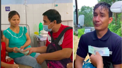"""MC Quyền Linh gây """"sốt"""" vì trao tiền """"khủng"""" cho gia đình người đàn ông ở Trà Leng """"đi nhờ xe, không cần tiền"""""""