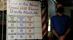 Nơi đầu tiên công bố kết quả bầu cử tổng thống Mỹ, hai ông Trump - Biden chia điểm
